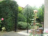 residential wrought iron driveway gate